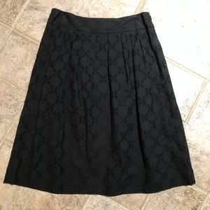 Loft Petite Knee Length eyelet skirt